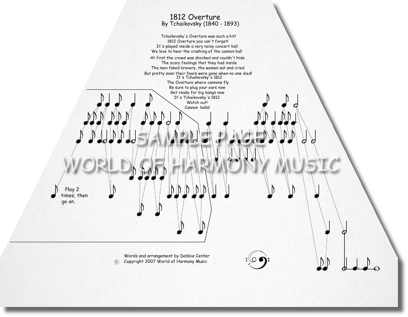 All Music Chords 1812 overture music sheet : 1812 Overture - World of Harmony Music