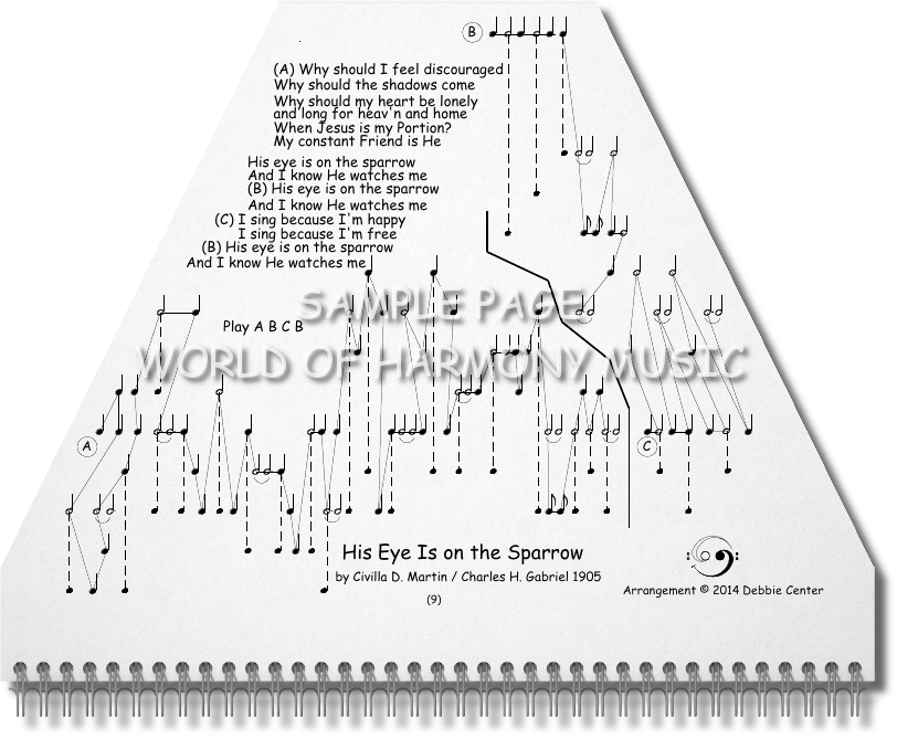 All Music Chords his eye is on the sparrow music sheet : Hymns Book - World of Harmony Music