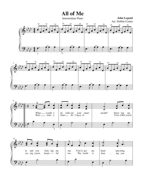 All of Me, by John Legend (Intermediate Solo)