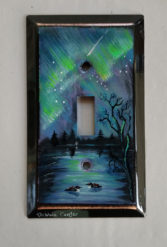 Hand-Painted Metal Light Switch Cover